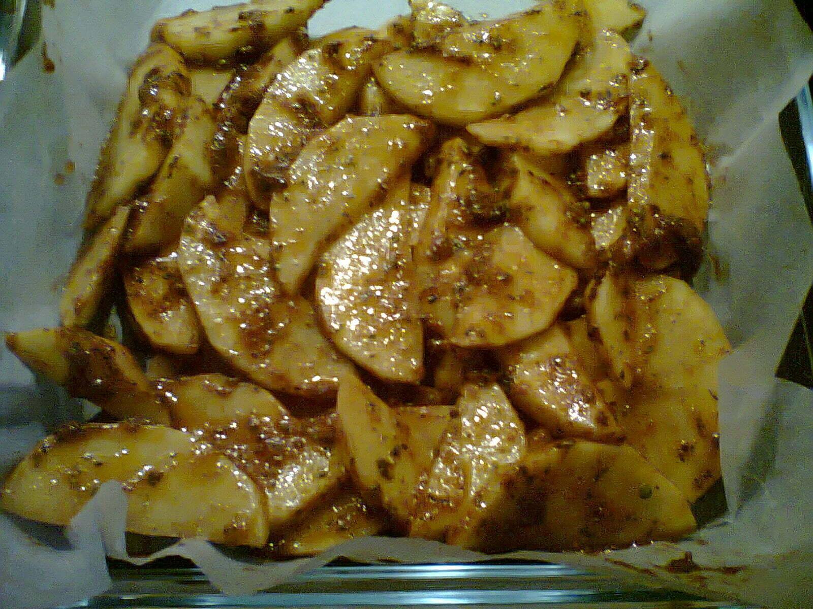 Fırında Soslu Patates Kızartması Tarifi