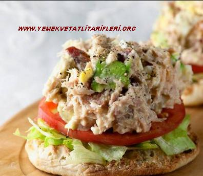 Ton Balığı Salatası Açık Sandviç Tarifi