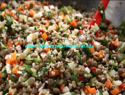 Bulgurlu Yeşil Mercimek Salatası Tarifi