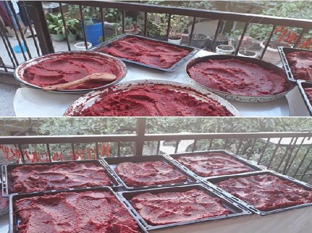 Ev Yapımı Domates ve Kırmızı Biber Salçası