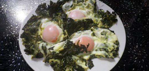 Yumurtalı Ispanak Kavurması